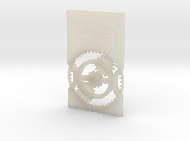 BU-Card in White Acrylic