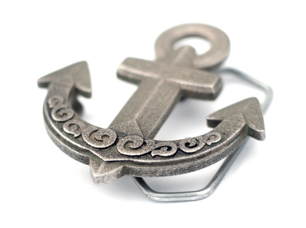 Buckle Anchor 3d printed Stainless Steel