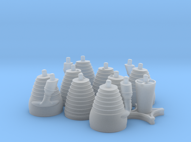 H-1 Engines (1:72 Saturn I & IB) SA-1 thru SA-202 in Smooth Fine Detail Plastic