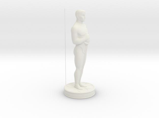 Oscar Statue in White Strong & Flexible