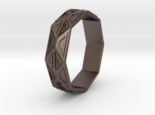 Bracelet6 in Polished Bronzed Silver Steel