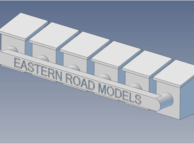 CNR Waybill Box O Scale in Smooth Fine Detail Plastic