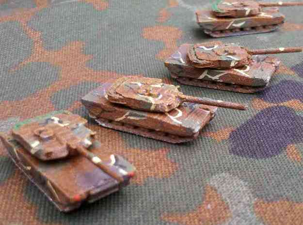 1/300 South Korean K1A1 Tank x4 3d printed Models printed in WSF