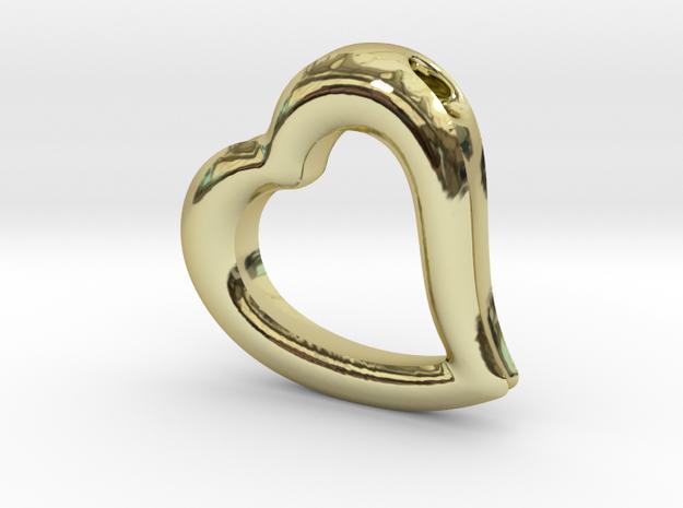 Heart Pendant Mark II (symmetrical) in 18k Gold Plated
