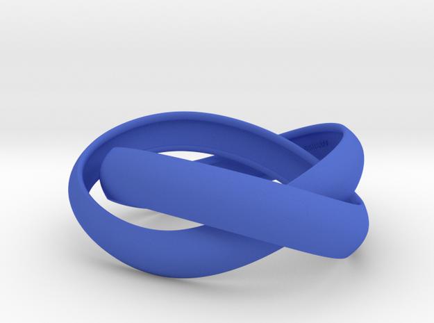 Double Swing Strait Bracelet M 61 in Blue Processed Versatile Plastic