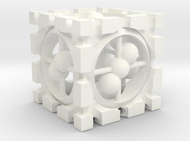 Die1 in White Processed Versatile Plastic