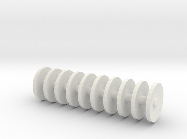 1/64 scale disc gang 1 inch long in White Strong & Flexible