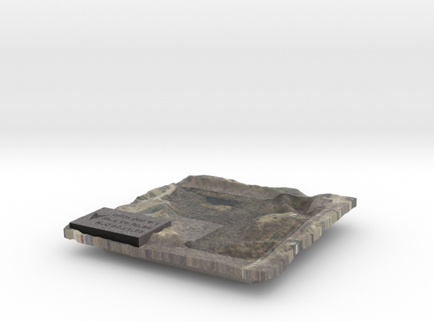 Property Map - Ground Surface in Full Color Sandstone
