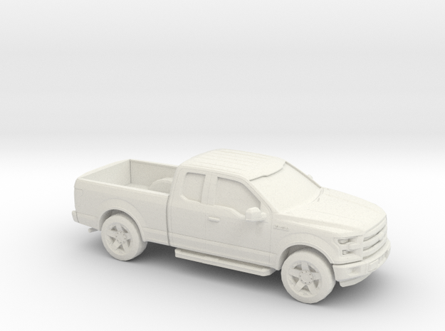 1/56 2015 F150 Ext Cab in White Natural Versatile Plastic
