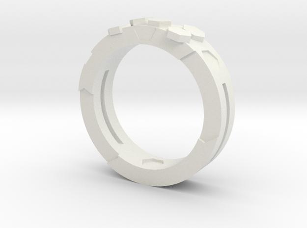 Ring Hex in White Natural Versatile Plastic
