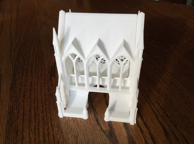 Gothic Cathedral Toothpick Dispenser in White Natural Versatile Plastic