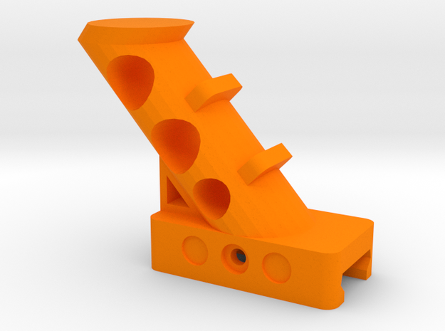 45 Degrees Angled Foregrip in Orange Strong & Flexible Polished
