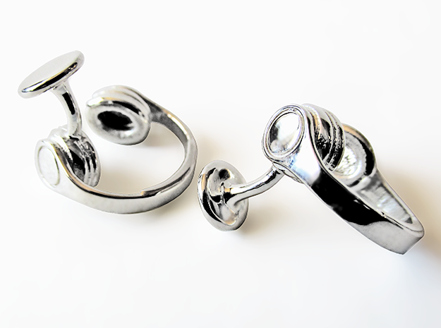 DJ Headphone Cufflinks in Antique Silver