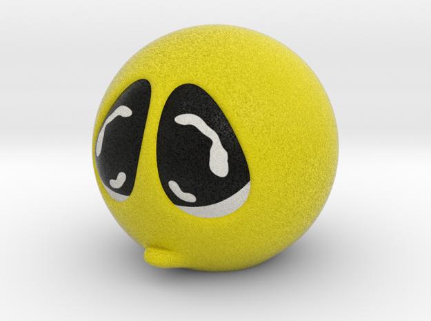 Happy Face Head Sad Small in Full Color Sandstone