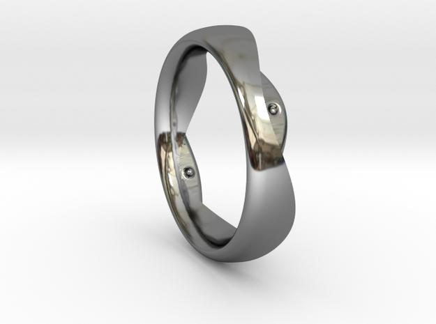 Swing Ring elliptical 18.5 mm inner diameter in Fine Detail Polished Silver