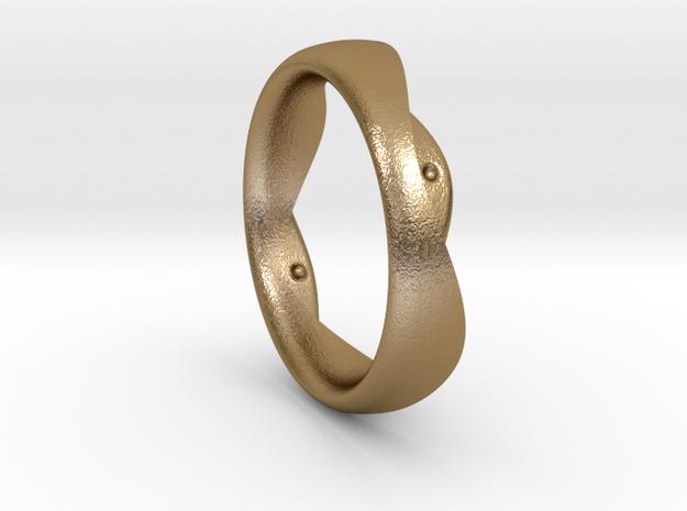 Swing Ring elliptical 18.5 mm inner diameter in Polished Gold Steel