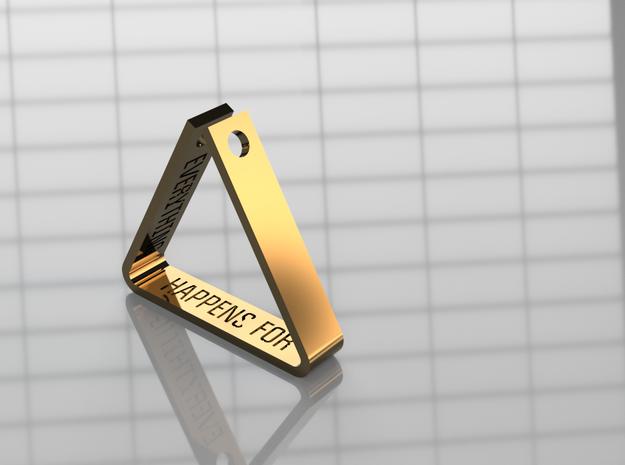 Custom Message Triangle Pendant