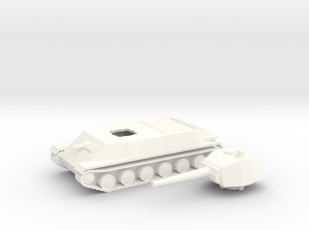Czech Skoda Panther T-25 1/100th 15mm in White Strong & Flexible Polished