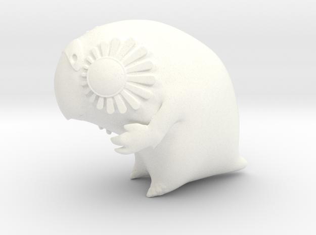 Large Kakapo (lux) in White Processed Versatile Plastic