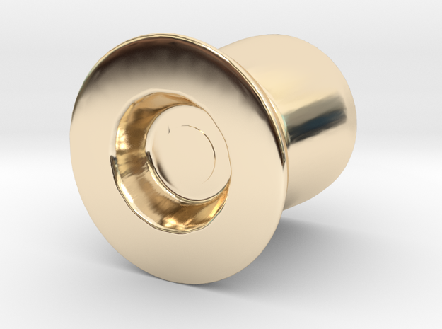 Door Handle 2 in 14K Yellow Gold
