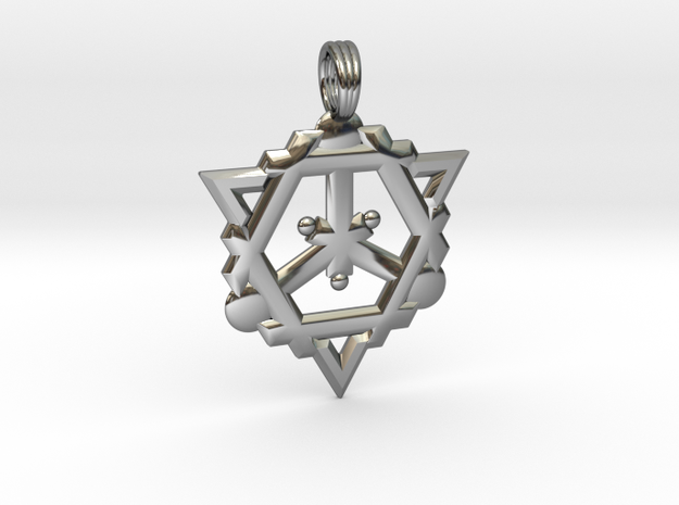 FLAME OF DESTINY in Fine Detail Polished Silver