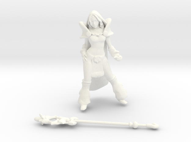 Crystal Maiden DOTA2 in White Processed Versatile Plastic
