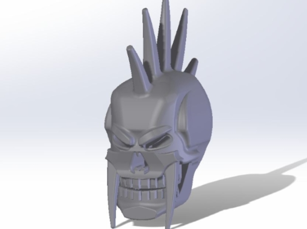 Vengeance Head in Smooth Fine Detail Plastic