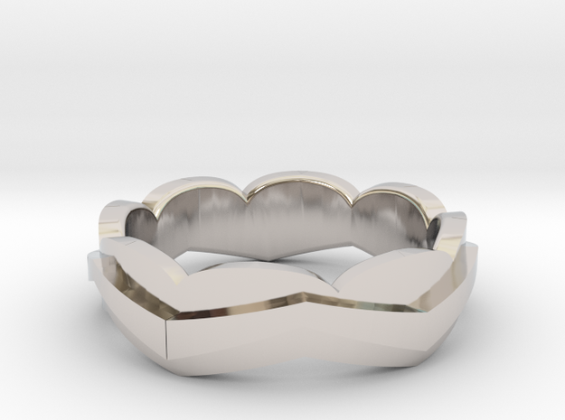 LAND / sea in Rhodium Plated