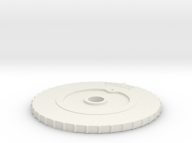 CAC Boomerang Trim Wheel in White Natural Versatile Plastic