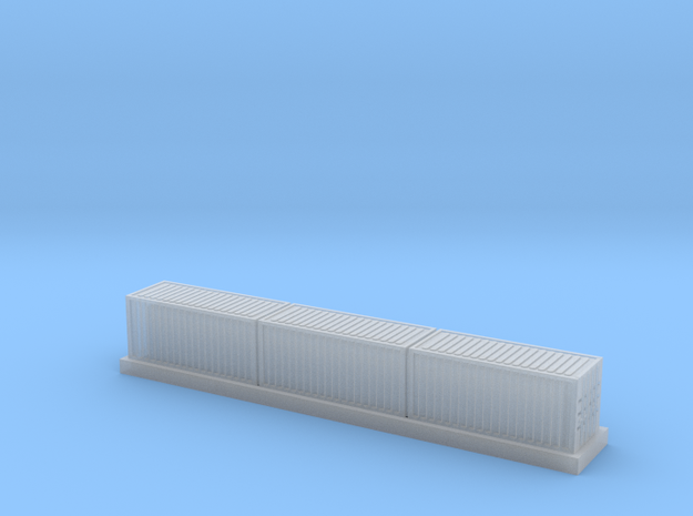 1/450 Container Wagon B x1 in Smooth Fine Detail Plastic