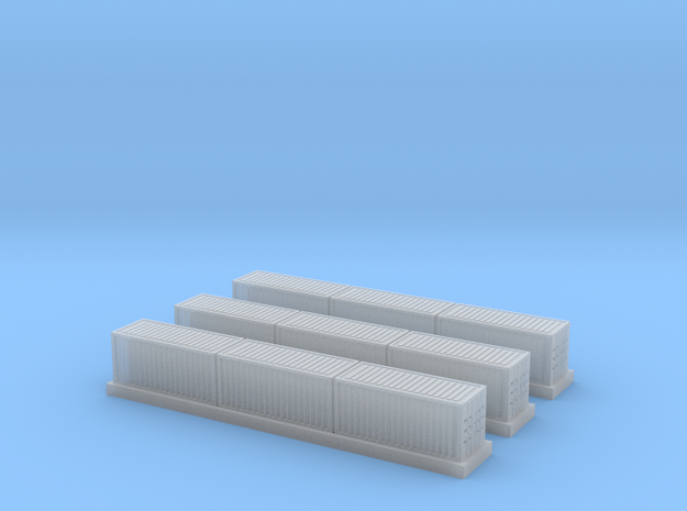 1/450 Container Wagon B x3 in Smooth Fine Detail Plastic