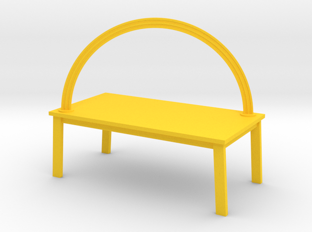 RAINBOW TABLE by RJW Elsinga 1:12 in Yellow Processed Versatile Plastic