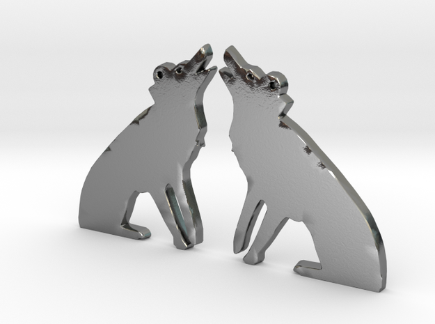 Whytewolf Earrings (Pair) in Polished Silver