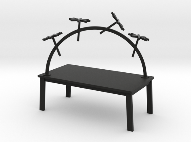 RAINBOW TABLE - TRAVELER by RJW Elsinga 1:12 in Black Strong & Flexible