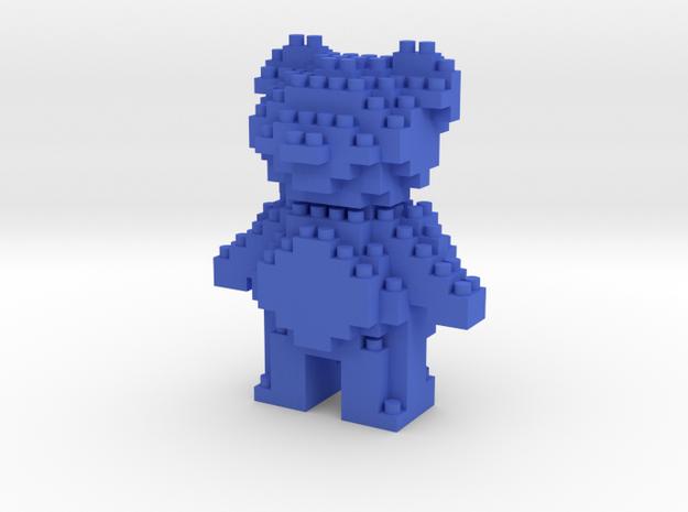 Teddy Bear - Nano Block in Blue Strong & Flexible Polished