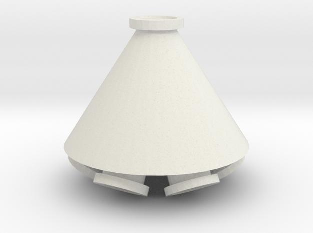 "'S Scale' - 6 Duct - 10""-60 Deg. Distributor in White Natural Versatile Plastic"