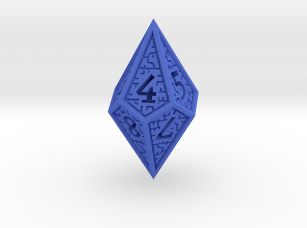 Hedron D10 (v2 closed) Spindown - Solid in Blue Processed Versatile Plastic