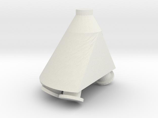 "'S Scale' - 6 Duct - 10"" 60 Deg. Flat Distributor in White Natural Versatile Plastic"