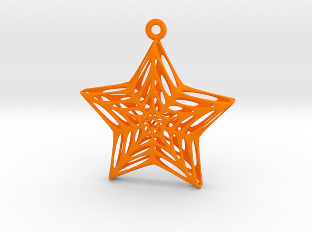 Star Voronoi in Orange Processed Versatile Plastic