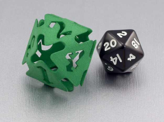 Big die 8 / d8 26 mm / dice set in Green Strong & Flexible Polished