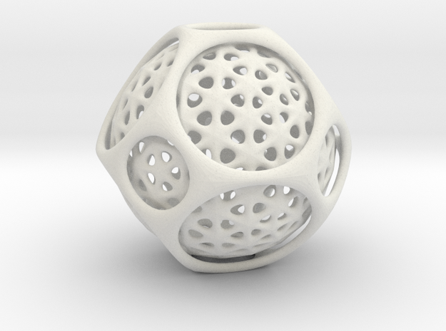 Awesome Trapped Sphere Inside Trunkated Octohedro 3d printed