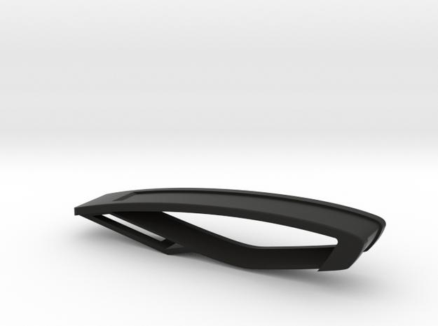 Trapezio Mini Keychain in Black Natural Versatile Plastic