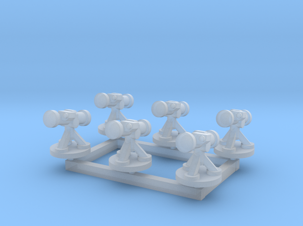 6mm Missile Launchers (x6) in Smooth Fine Detail Plastic