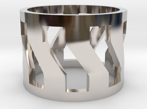 Trojan V2 Men Ring [Size 9] in Rhodium Plated