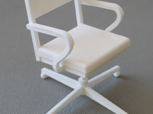 Office Chair in White Strong & Flexible