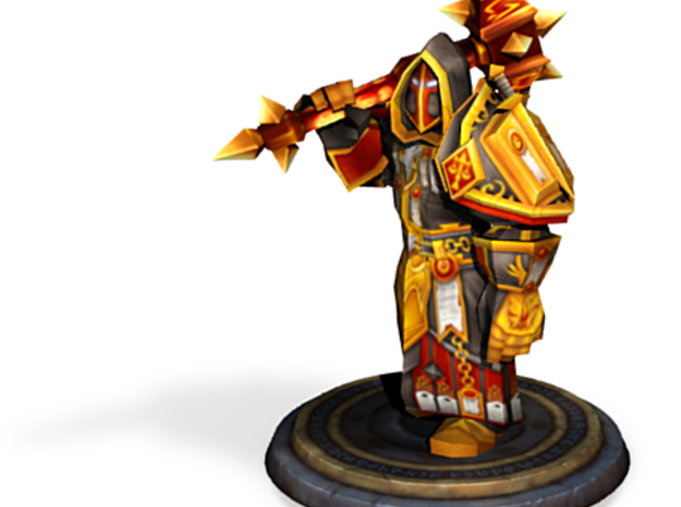 Dwarf Paladin in Judgement armour 3d printed