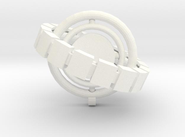 Star Spinner Ornament in White Processed Versatile Plastic