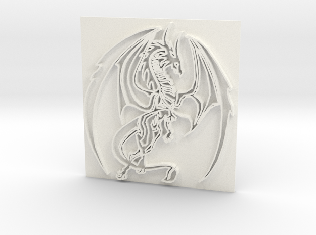 Dragon2 in White Strong & Flexible Polished