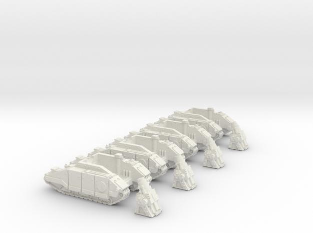 1/285 Guild Light Self-Propelled Mortar Battery in White Natural Versatile Plastic