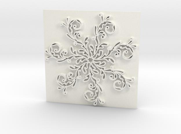 Snowflake2 in White Processed Versatile Plastic